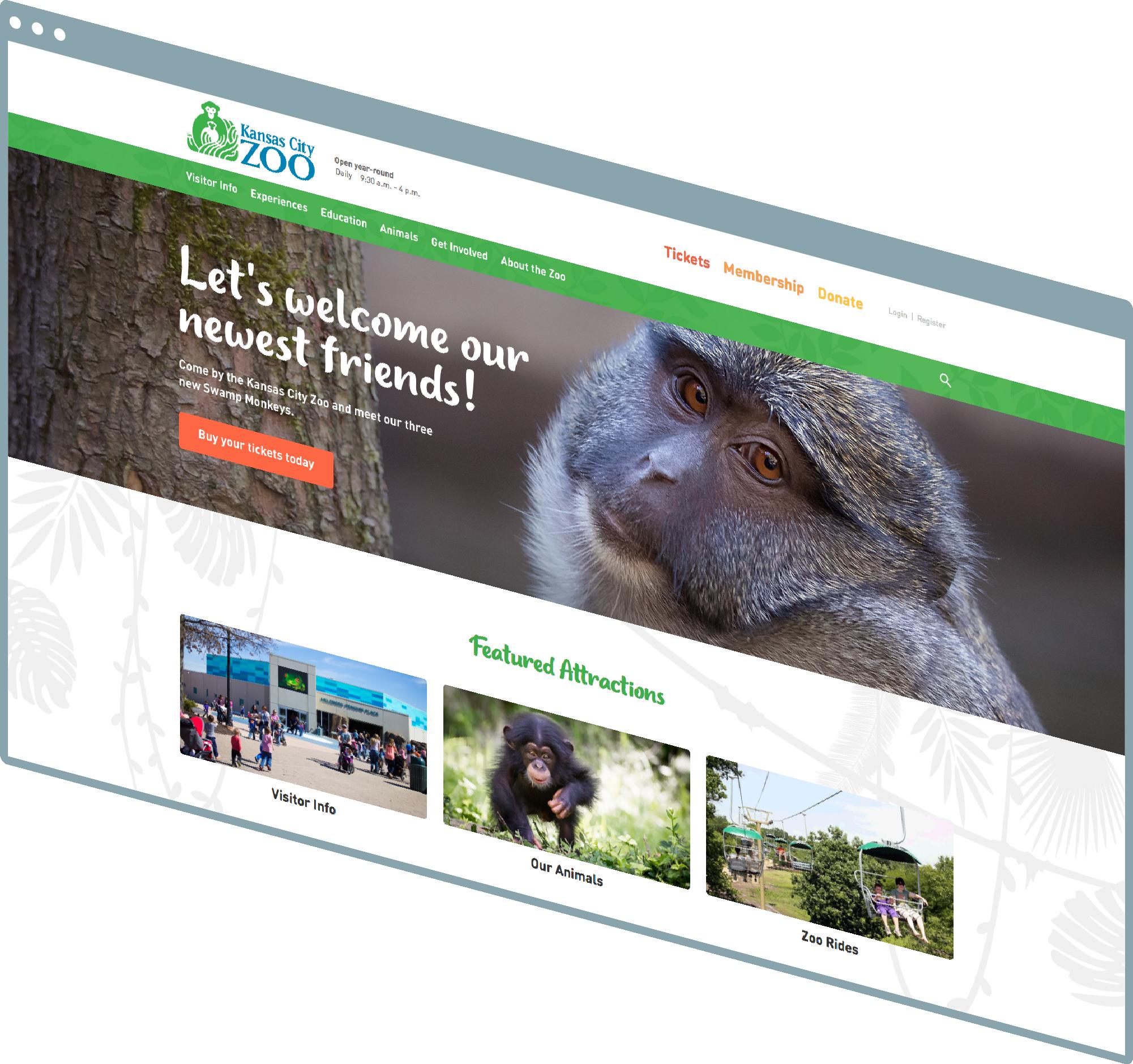 Kansas City Web Design And Kansas City Web Development Portfolio - Kansas City Zoo